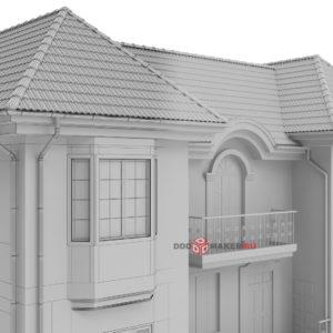Загородный дом 3d-модель