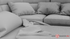 3d-модель дивана
