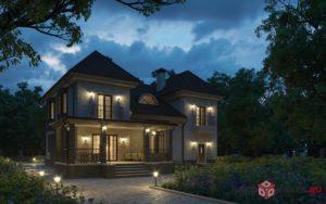 Загородный дом 3d-визуализация