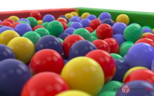 Сухой бассейн 3d-визуализация