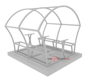 Беседка из поликарбоната 3d-моделирование