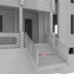 Деревянный дом 3d-модель