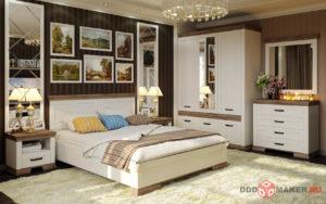 Спальный гарнитур 3d-рендер