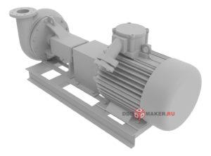 Центробежный насос 3d-модель