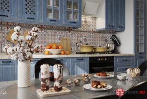 гарнитур кухня 3d-визуализация